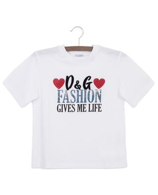 Millenials crystal adorned slogan T-shirt DOLCE & GABBANA