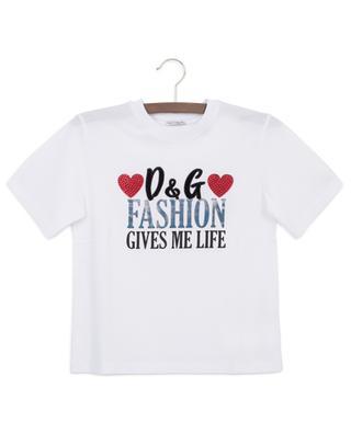 Slogan-T-Shirt mit Kristallen Millenials DOLCE & GABBANA