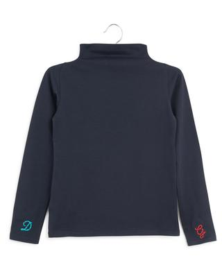 Back To School cat embroidered stand-up collar top DOLCE & GABBANA