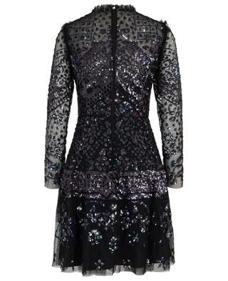 Aurora short sequin embroidered tulle dress NEEDLE &THREAD