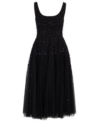 Snowflake Prom bead embroidered tull dress NEEDLE &THREAD