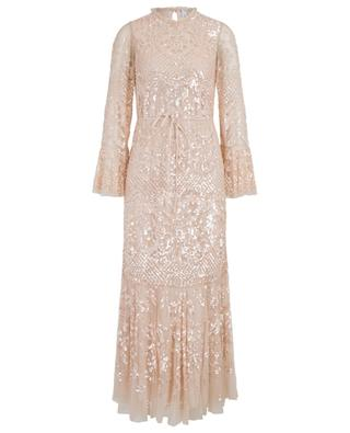 Snowdrop Gown sequin embroidered long tulle dress NEEDLE &THREAD