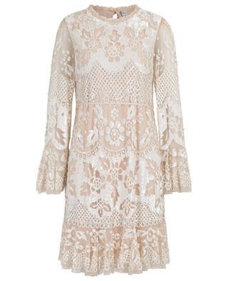 Snowdrop embroidered tulle mini dress NEEDLE &THREAD