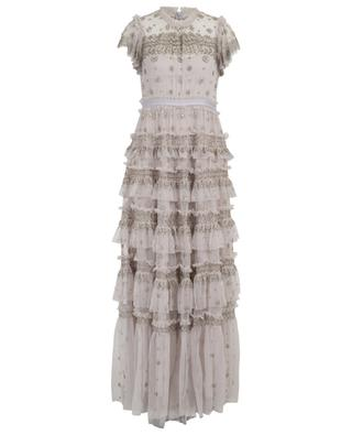 Andromeda long bead embroidered gown NEEDLE &THREAD