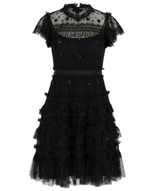 Andromeda short embroidered tulle dress NEEDLE &THREAD