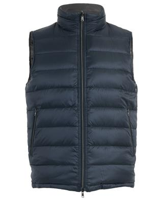 Sleeveless reversible down jacket with stand-up collar HERNO