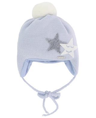 Bonnet en laine vierge orné d'étoiles IL TRENINO