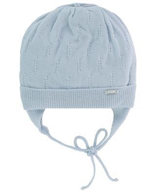 Lined openwork stitching virgin wool beanie IL TRENINO