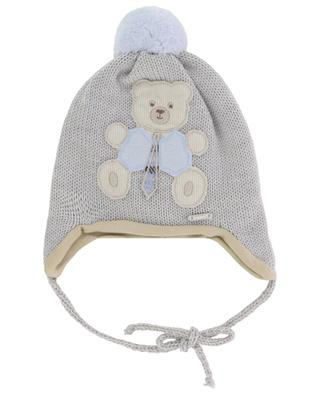 Bear patch adorned lined beanie IL TRENINO