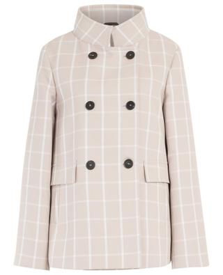 Short lightweight gingham check coat WINDSOR