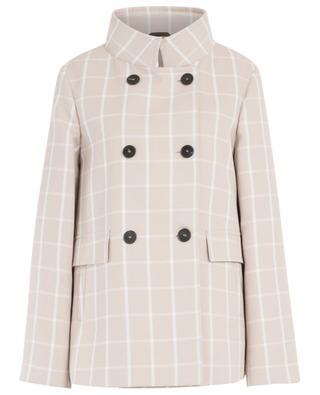 Short lightweight gingham check coat WINDSOR