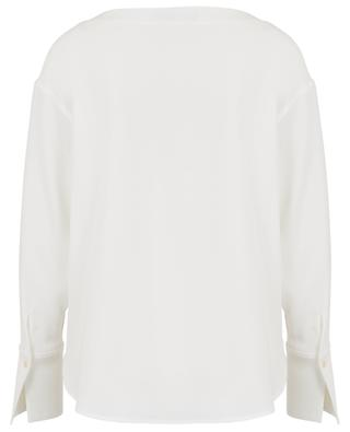 Crepe blouse with boat neck WINDSOR