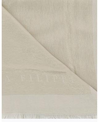 Grand foulard scintillant monogrammé FABIANA FILIPPI