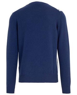 Merino wool and cashmere check jumper LUIGI BORRELLI