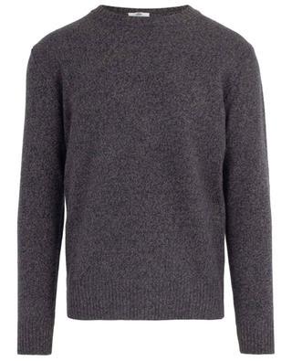 Merino wool and cashmere round neck jumper LUIGI BORRELLI