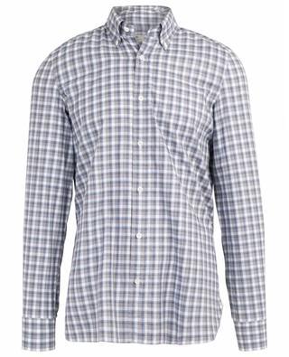 Chemise à carreaux en coton LUIGI BORRELLI
