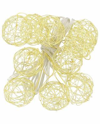 Guirlande de boules dorées BAZARDELUXE
