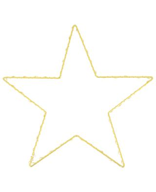 Lichterkette mit LED-Lichtern auf goldenem Stern BAZARDELUXE