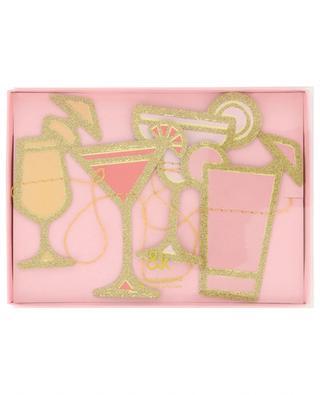 Girlande aus Papier Cocktail KLEVERING
