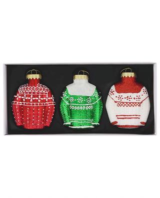 Set de 3 ornements de Noël Sweater KLEVERING