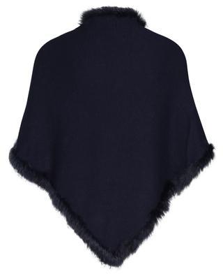 Écharpe triangulaire en laine, cachemire et fourrure GRAHAM&MARSHALL