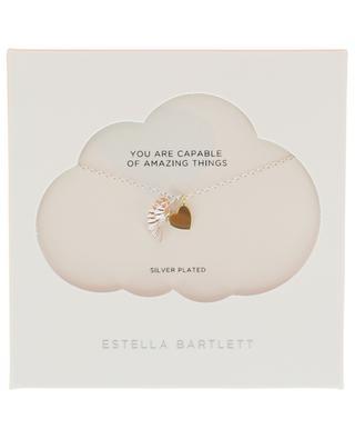 Silberne Halskette Two Tone Wing and Heart ESTELLA BARTLETT