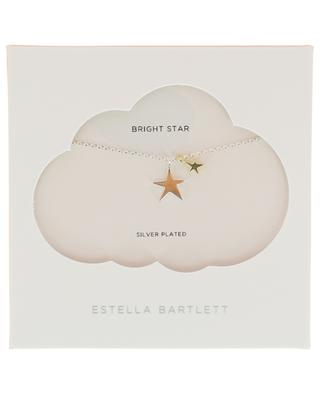 Collier argenté Two Tone Double Star ESTELLA BARTLETT
