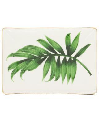 Rectangular leaf pattern plate BAZARDELUXE