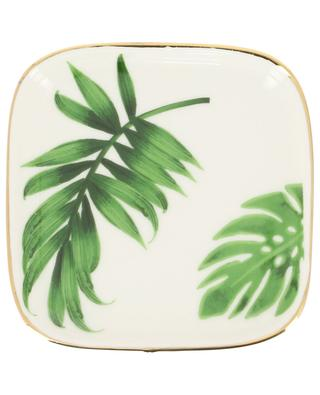 Square plate with leaves BAZARDELUXE