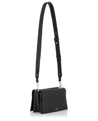 Mini Web grained leather cross body bag with two compartments TOD'S
