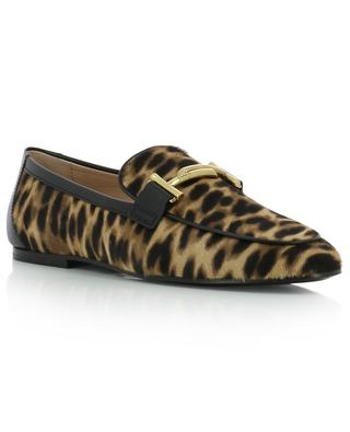 Mokassins mit Leopardenprint Double T TOD'S