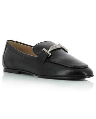 Double T grained leather loafers TOD'S