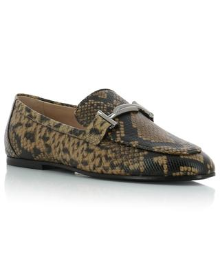 Double T snake skin print loafers TOD'S
