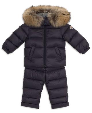 New Mauger quilted snow set with hooded down jacket and dungarees MONCLER