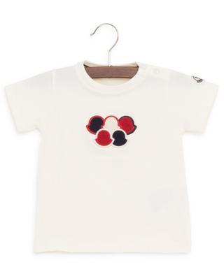 Cotton blend T-shirt with terry cotton logo MONCLER