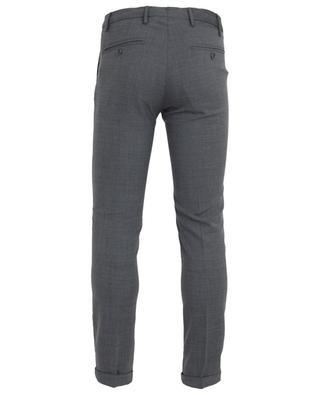Slim fit wool twill trousers B SETTECENTO