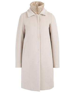 Mantel aus Schurwolle, Angora und Seide mit abnehmbarer Weste HERNO