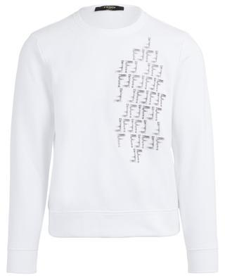 Sweat-shirt en coton mélangé logo FF FENDI