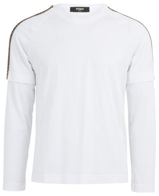 Top manches longues en coton logo FF FENDI