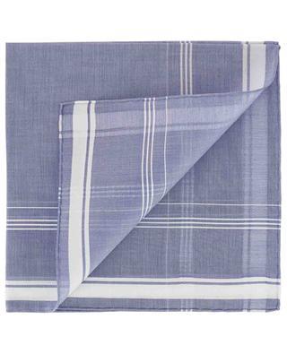 Einstecktuch aus Baumwolle Detail Karos Sarabanda SIMONNOT GODARD