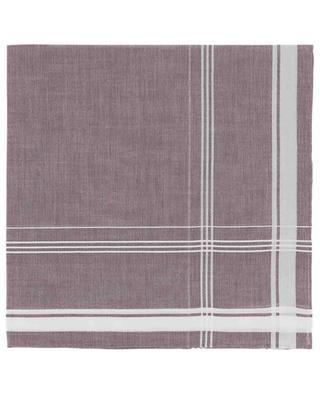 Sarabanda cotton pocket square with check details SIMONNOT GODARD