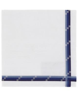 Mondrian pocket square with tricolour frame SIMONNOT GODARD