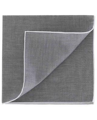 Monochrome pocket square with white trim SIMONNOT GODARD