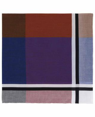 Pondichery pocket square with multicolour squares SIMONNOT GODARD