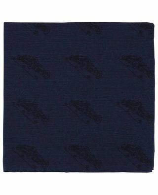 Auto car pattern jacquard pocket square SIMONNOT GODARD