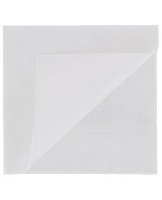 Swan cotton pocket square with textured stripes SIMONNOT GODARD