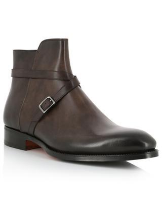 Strap adorned leather ankle boots SANTONI