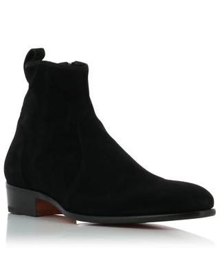 Zippered leather ankle boots SANTONI