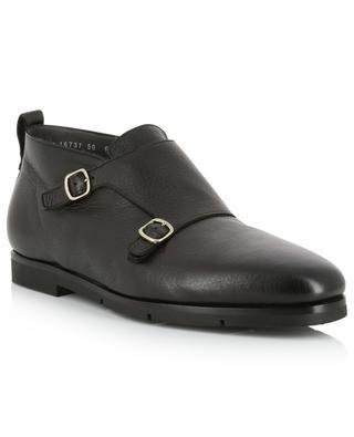 Padded leather monkstrap shoes SANTONI