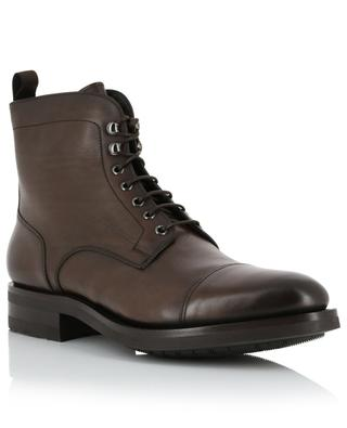 Lace-up fur-lined leather ankle boots SANTONI